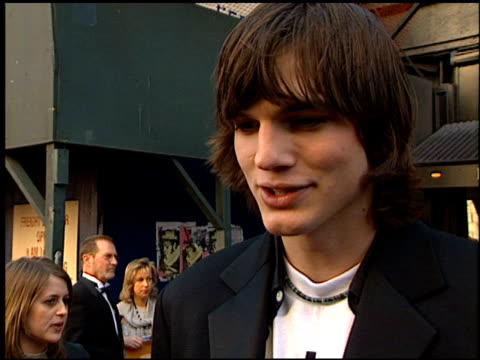 ashton kutcher at the 1999 tv guide awards entrances at fox studios in century city, california on february 1, 1999. - ashton kutcher stock videos & royalty-free footage