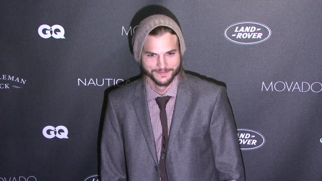 ashton kutcher at the gqs gentlemens ball 2011 at new york ny. - ashton kutcher stock videos & royalty-free footage