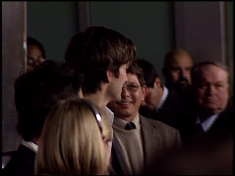 ashton kutcher at the 'just married' premiere at the cinerama dome at arclight cinemas in hollywood, california on january 8, 2003. - ashton kutcher stock videos & royalty-free footage