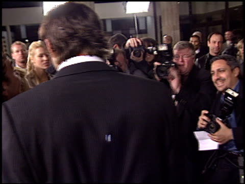 ashton kutcher at the 'just married' premiere at the cinerama dome at arclight cinemas in hollywood california on january 8 2003 - ashton kutcher stock videos and b-roll footage