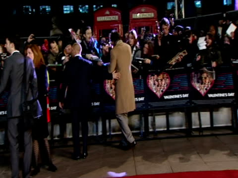 ashton kutcher at the valentine's day european premiere at london england. - ashton kutcher stock videos & royalty-free footage