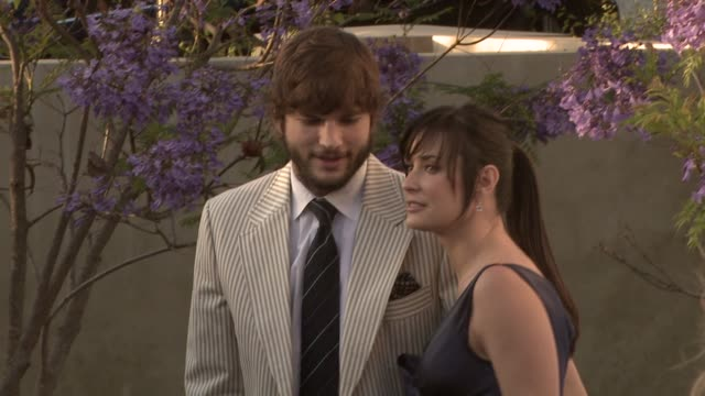 Ashton Kutcher Demi Moore at the 7th Annual Chrysalis Butterfly Ball at Los Angeles California