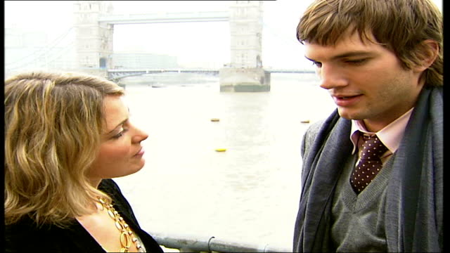 ashton kutcher interview promoting 'the guardian' aston kutcher interview sot i had a small taste of what they go through - ashton kutcher stock videos and b-roll footage