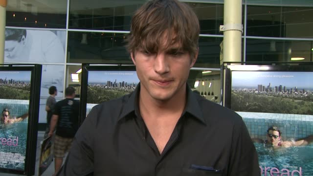 ashton kutcher on his role, what attracted him to the project, the biggest challenge he faced in creating the role, if he's ever known anyone like... - biggest stock videos & royalty-free footage