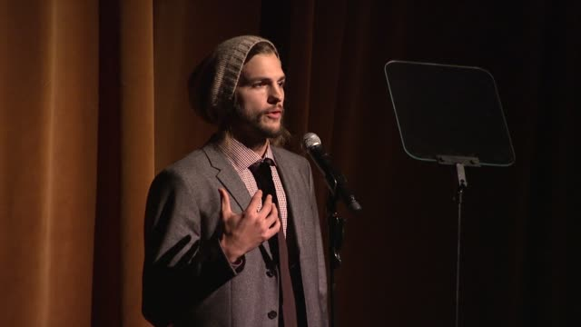 ashton kutcher shares his passion in defense of sexual trafficking victims at the gqs gentlemens ball 2011 at new york ny - ashton kutcher stock videos and b-roll footage