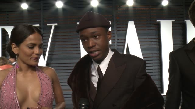 interview ashton sanders at 2017 vanity fair oscar party hosted by graydon carter on february 26 2017 in beverly hills california - oscar party stock-videos und b-roll-filmmaterial