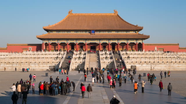 asia, china, beijing, forbidden city, imperial palace, palace museum, unesco world heritage site - time lapse - summer palace beijing stock videos & royalty-free footage