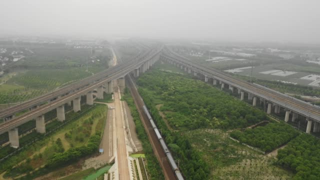 asia china jiangxi high speed rail scene - tall high stock videos & royalty-free footage