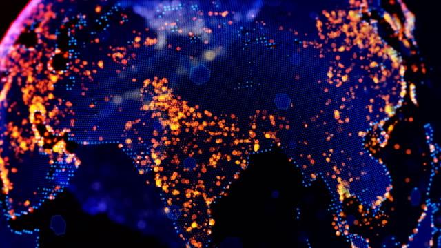 asia japan chinese korea asia map - data mining stock videos & royalty-free footage