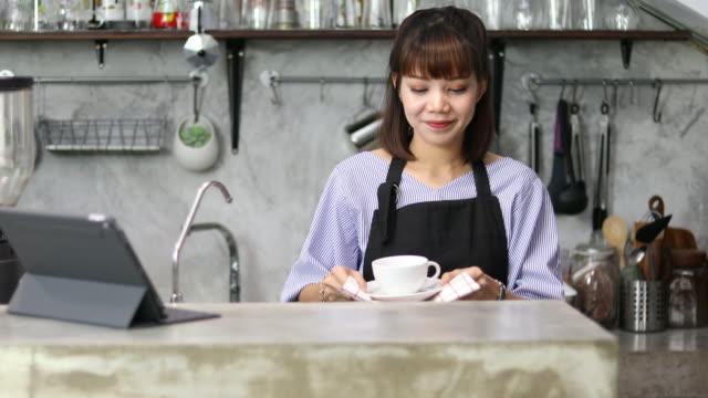 asia woman owner coffee shop