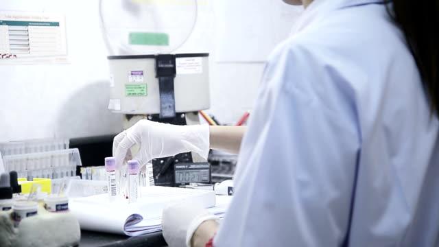 asien frauen medical technology recherchen in labor - biochemiker stock-videos und b-roll-filmmaterial