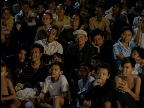 asian audience laughing / ubud / bali / indonesia - ubud district stock videos & royalty-free footage