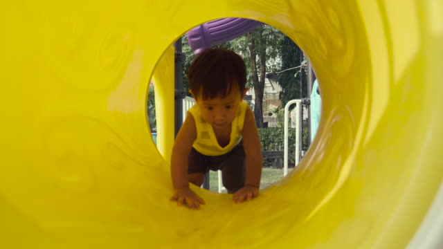 Asian Baby Boy at the Playground