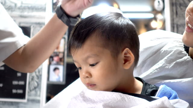 Asian Baby Boy Hair Cutting Stock Footage Video Getty Images