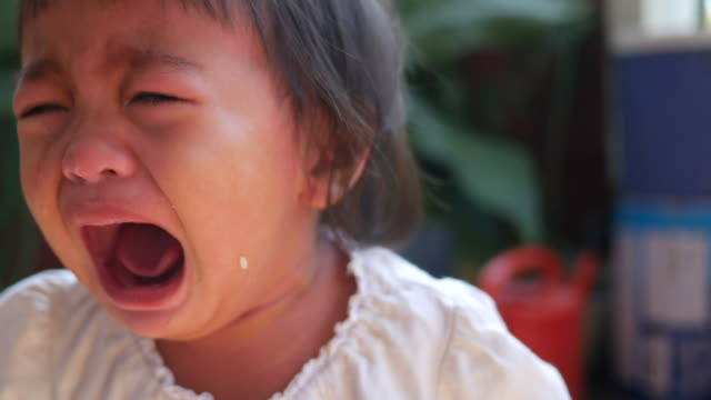 asian baby cry - toddler stock videos & royalty-free footage