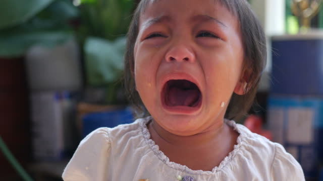 asian baby cry - baby girls stock videos & royalty-free footage