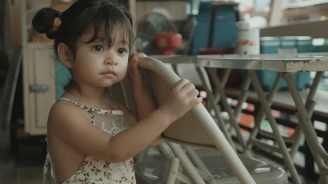 asian baby girl looking at something. - 12 23 months stock videos & royalty-free footage
