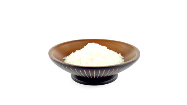 vídeos y material grabado en eventos de stock de asian tazón de arroz - fondos simples