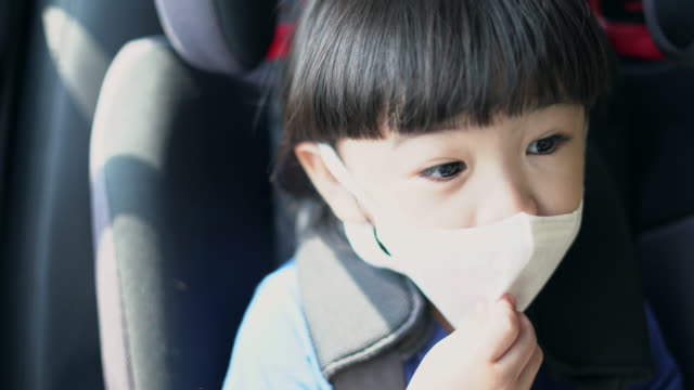 asian boy wearing a dust mask, pm2.5 - trachea stock videos & royalty-free footage