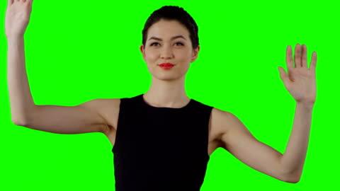 asiatische geschäftsfrau arbeiten mit virtuellen touchscreen - zeigen stock-videos und b-roll-filmmaterial