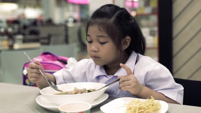 asian children eating restaurants - nausea stock videos & royalty-free footage