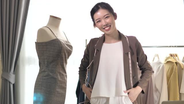 asian clothing designer woman - designer clothing stock videos & royalty-free footage
