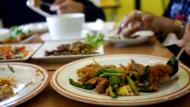 asian eating - Thai style food
