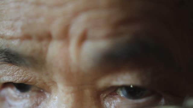 Asian elder woman eyes