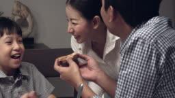 Asian Family Eating