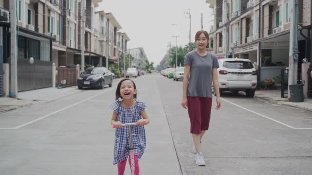 asian family playing outdoor together - young family stock videos & royalty-free footage