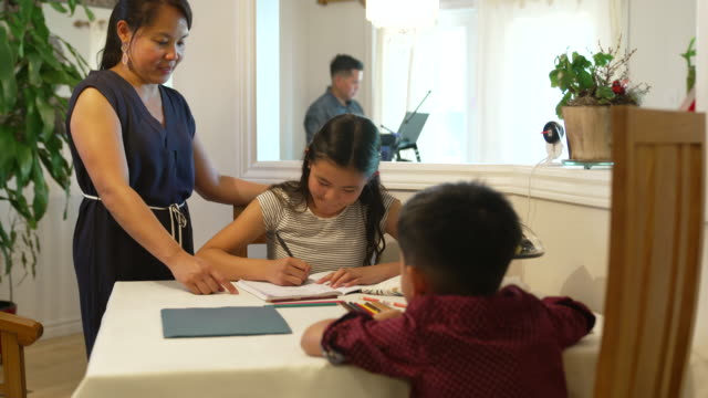 asian family working from home during covid-19 - filipino ethnicity stock videos & royalty-free footage