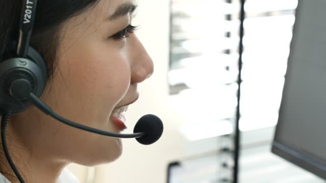 Asian Female Customer Service Representative, Close up