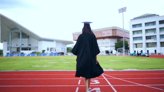 asian female students graduated of the university - 1987 stock videos & royalty-free footage