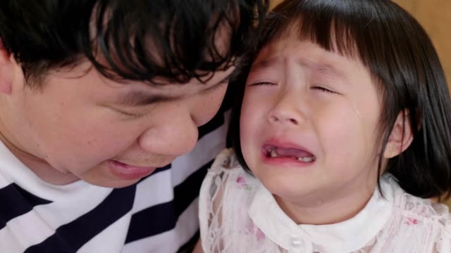 Asian Little Girl(4-5 Years) Cries Really Emotional