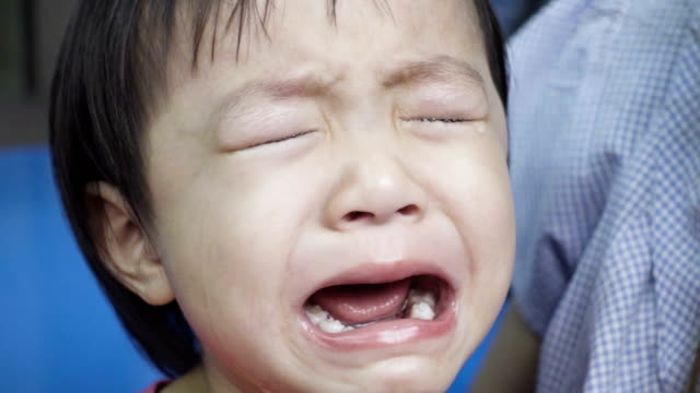 Asian Little Girl Cries Really Emotional
