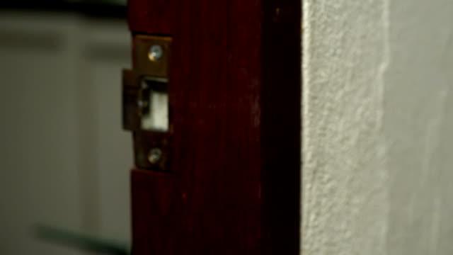 asian man open the door