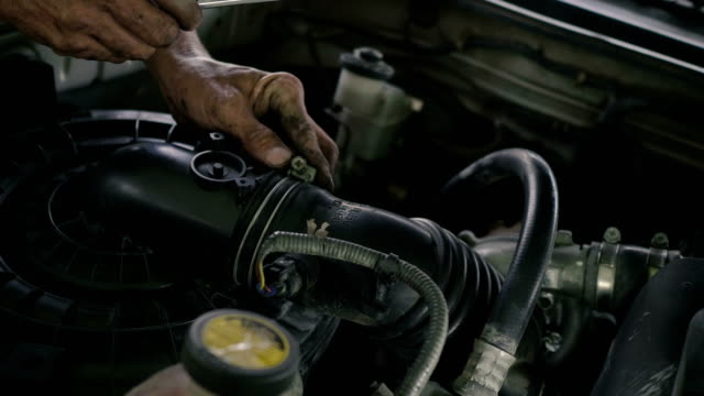 asian mechanic man maintenance car - anatomical valve stock videos & royalty-free footage