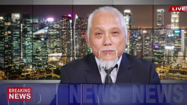 ニュース速報を読む 4 k アジア ニュース キャスター - media点の映像素材/bロール