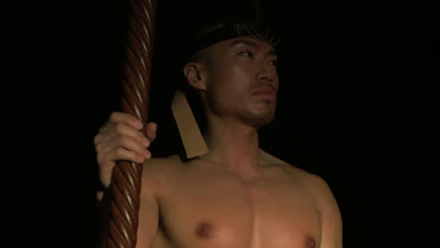 asian pacific tribal warrior 02 - belly button piercing stock videos & royalty-free footage