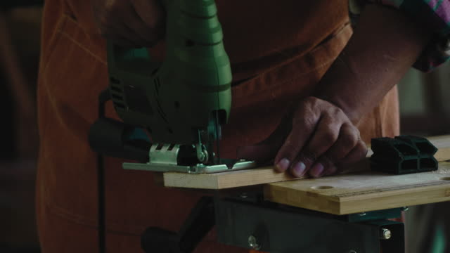 asian senior carpenter working - checked pattern stock videos & royalty-free footage