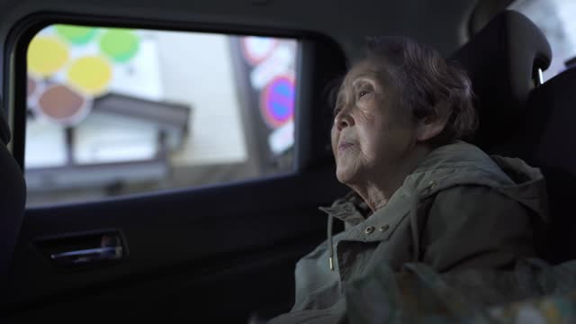 asian senior woman in the car - the ageing process stock videos & royalty-free footage