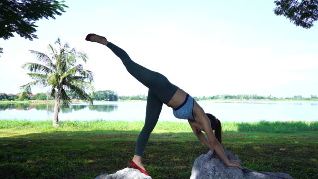 asian sexy woman workout yoga and pilates - deltoid stock videos and b-roll footage