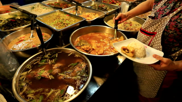asian street food. - exhibition stock videos & royalty-free footage