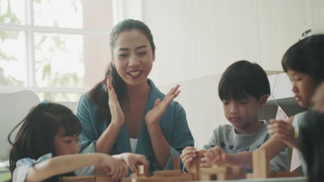 asian teacher teaching students - thai ethnicity stock videos & royalty-free footage