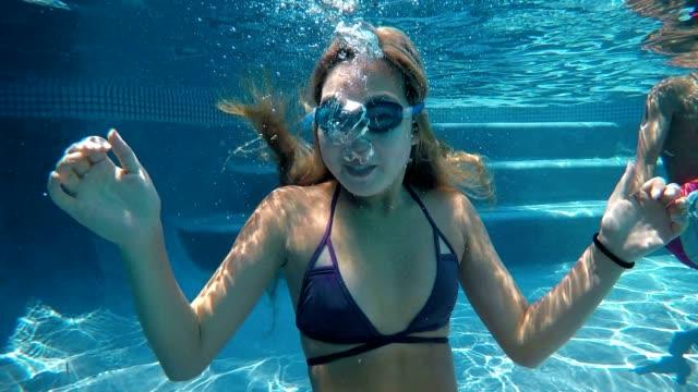 Asian Teen Under Water Fun