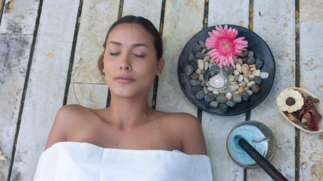 asian woman at the spa - spa treatment stock videos & royalty-free footage