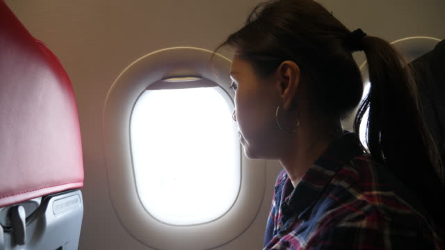 asian woman coughing - aeroplane stock videos & royalty-free footage