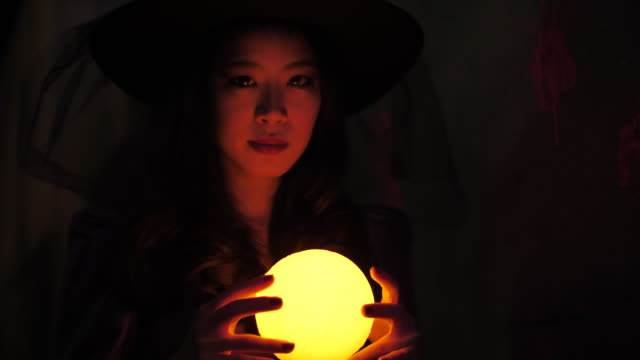 asian woman  in halloween witch costumes - dungeon stock videos & royalty-free footage