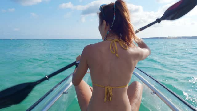 asian woman on vacation by the sea - beautiful people stock videos & royalty-free footage