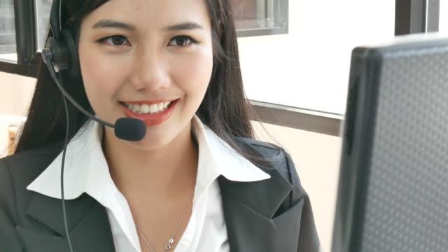 asian woman operator working